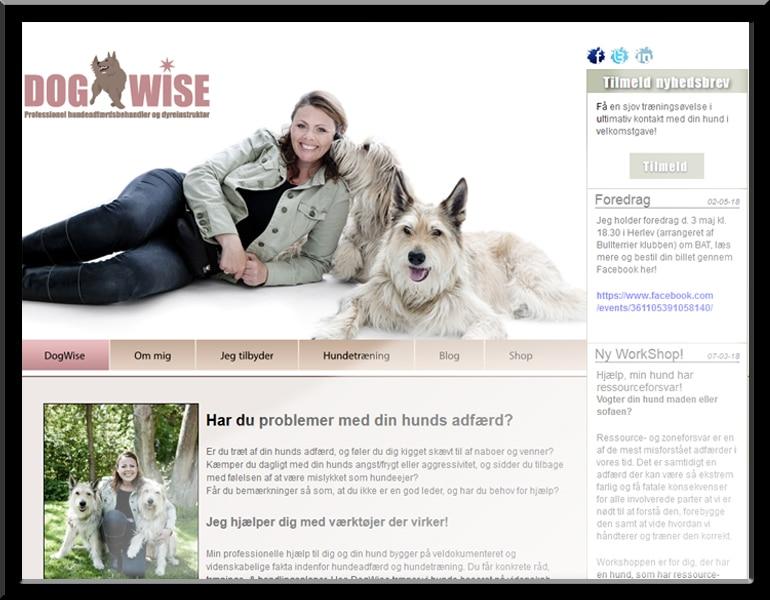 Dogwise wordpress hjemmeside