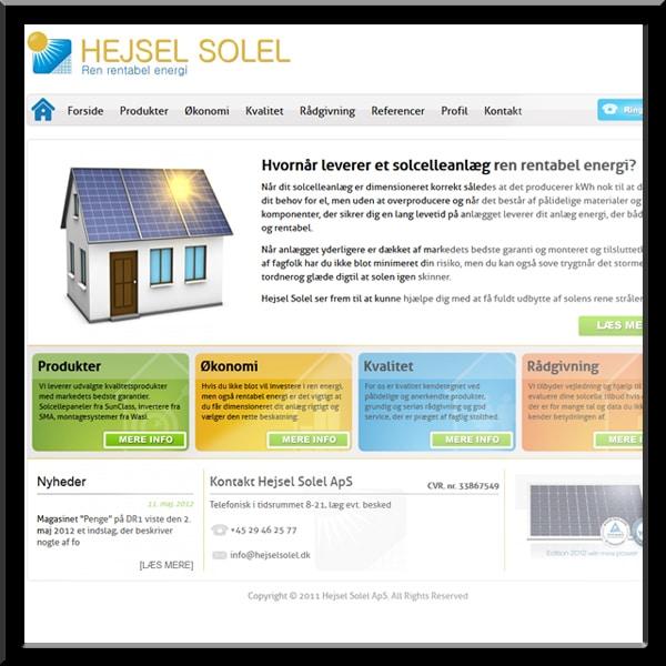 Wordpress hjemmeside, Hejsel Solel