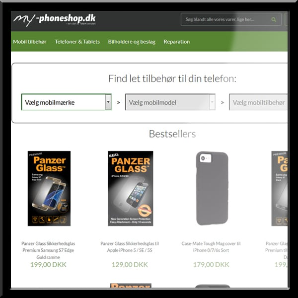 wordpress website my-phoneshop