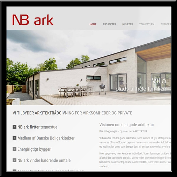 NBark.dk - wordpress visitkort