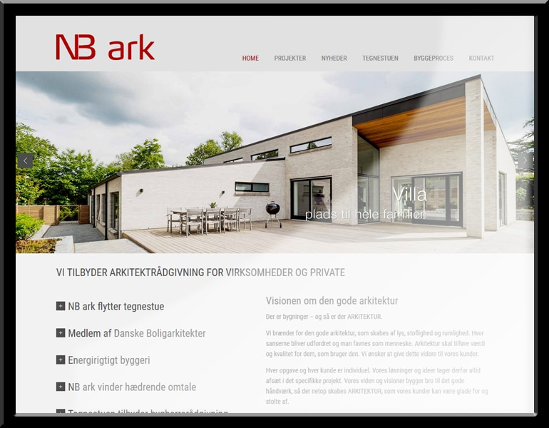 NBark.dk - online visitkort i WordPress